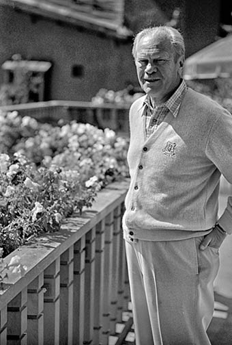 President Ford walking around his Beaver Creek home
