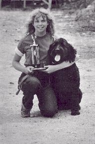 Melissa with her black shaggy two time champiton