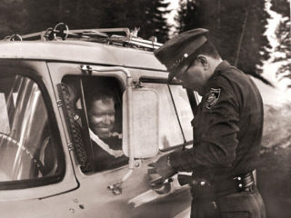 Author receiving Ticket on Vail Pass