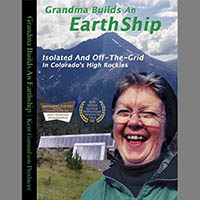67-year-old grandmother builds an earth-ram home
